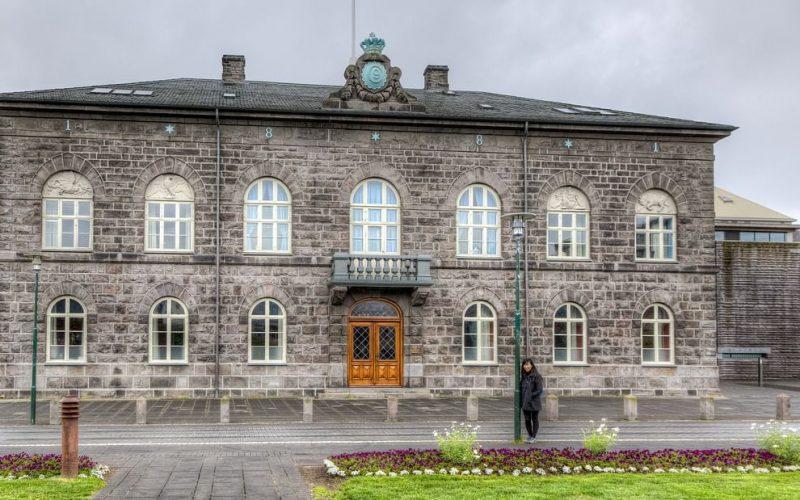 Alþingishúsið on the Reykjavik Private Sightseeing tour, Icelands parliament