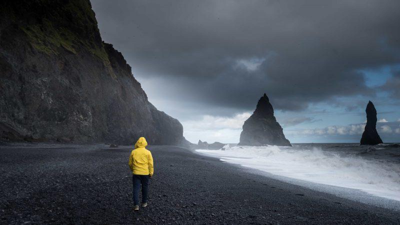 Reynisfjara black sand beach in south Iceland