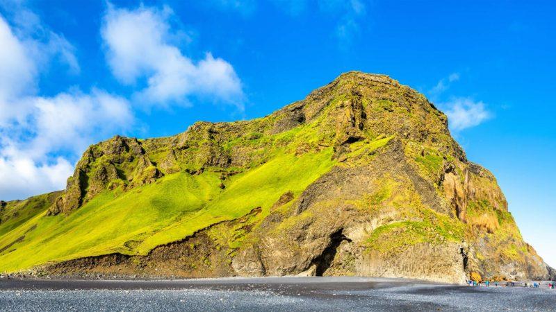 Reynisfjall and Reynisfjara black sand beach in south Iceland