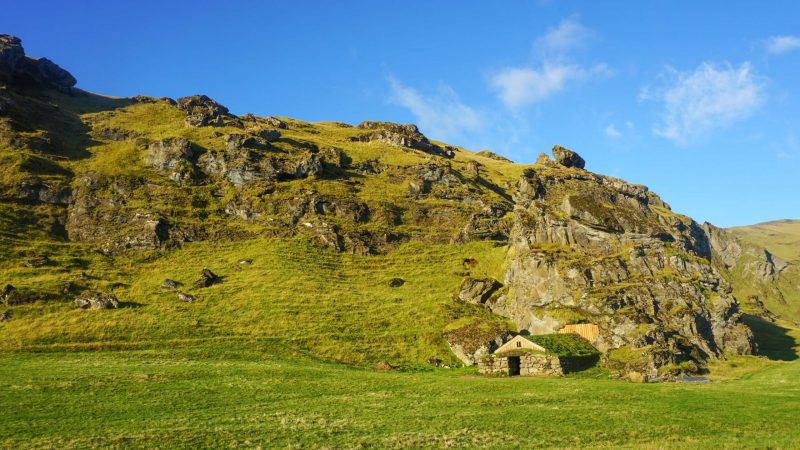 Rútshellir cave in south Iceland