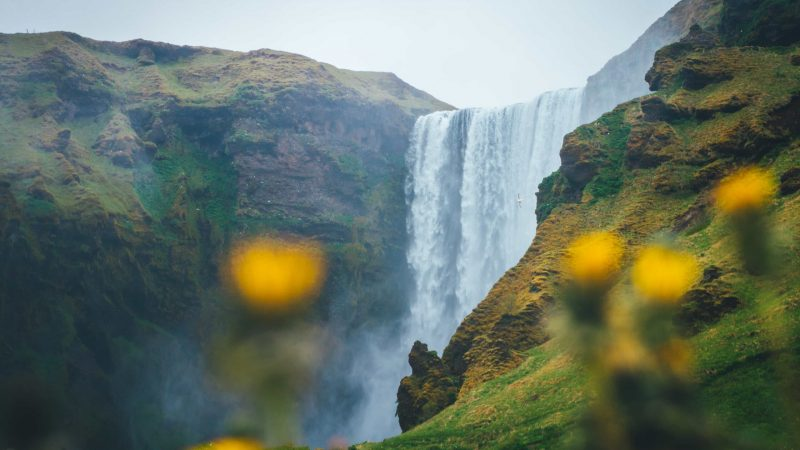 Skógafoss waterfall in Skógar south Iceland