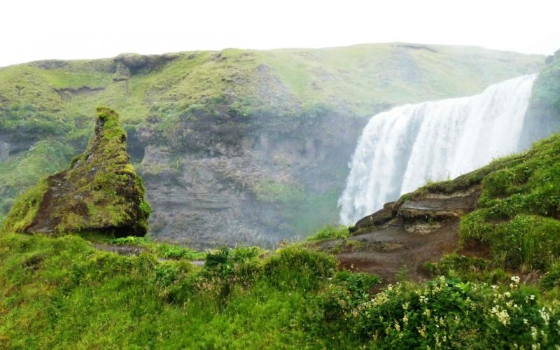 Skógafoss waterfall in south Iceland