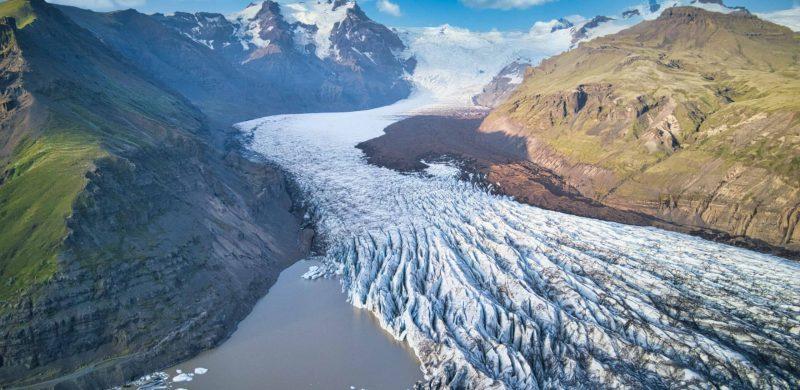 Svínafellsjokull glacier in Skaftafell Nature Reserve