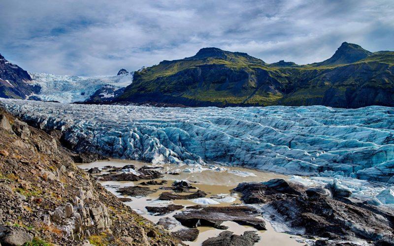 Svínafellsjokull glacier and Skaftafell Nature Reserve in south Iceland