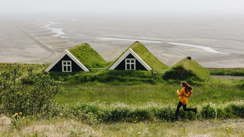 turf houses in Skaftafell Nature Reserve