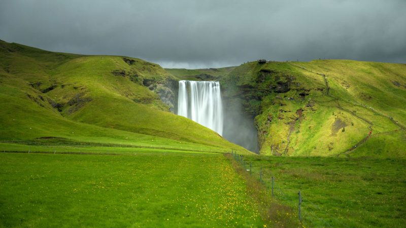 Skógafoss waterfall in south Iceland (1)
