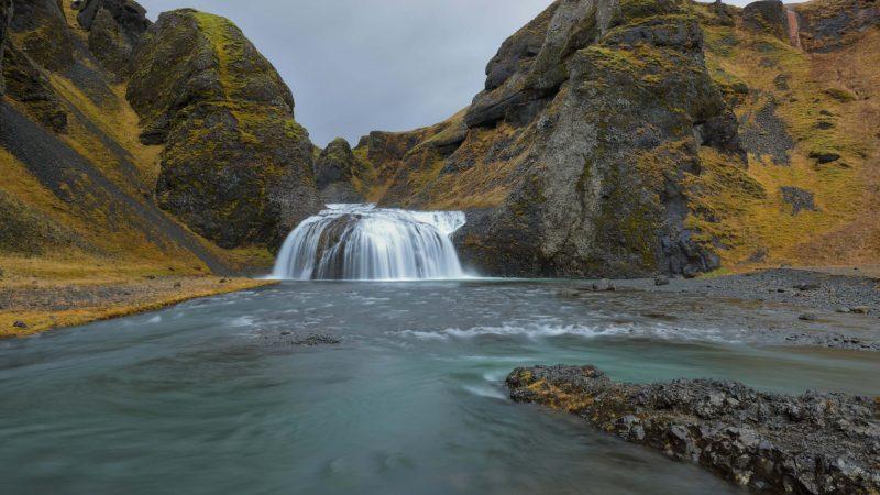Stjórnarfoss waterfall - Kirkjubæjarklaustur South Iceland