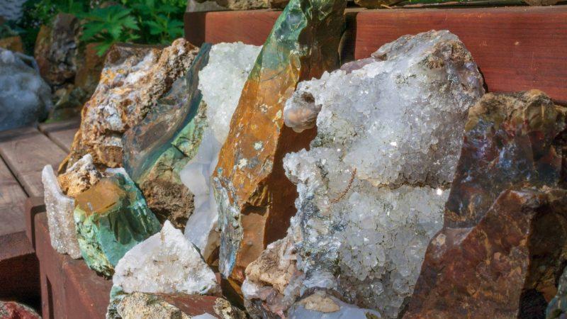 stones in Stöðvarfjörður village - East Iceland