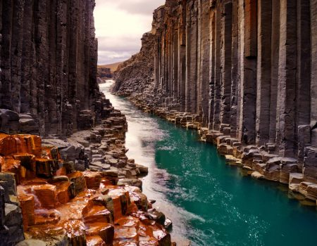 Stuðlagil Canyon, basalt column canyon in East Iceland