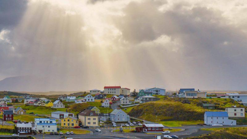 Stykkisholmur village in Snæfellsnes Peninsula