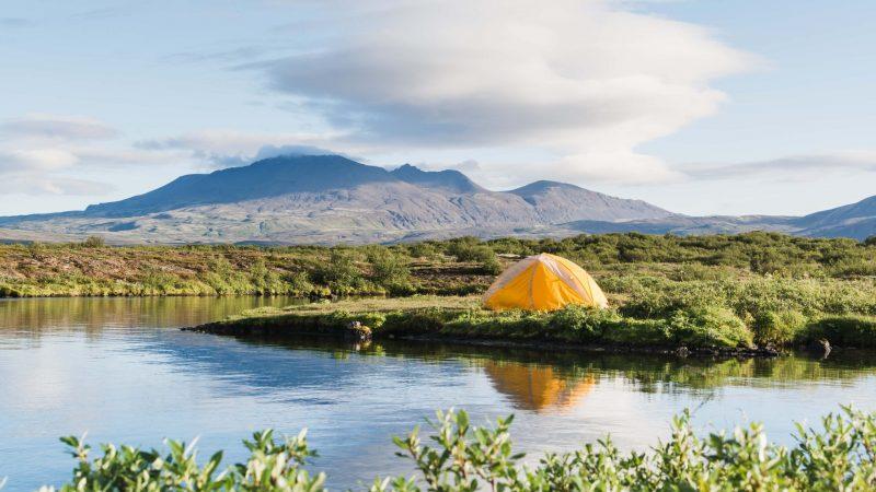 camping at Þingvellir National Park - Golden Circle