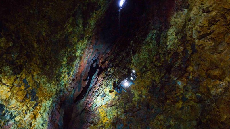 Thrihnukagigur volcano - inside the volcano in Iceland