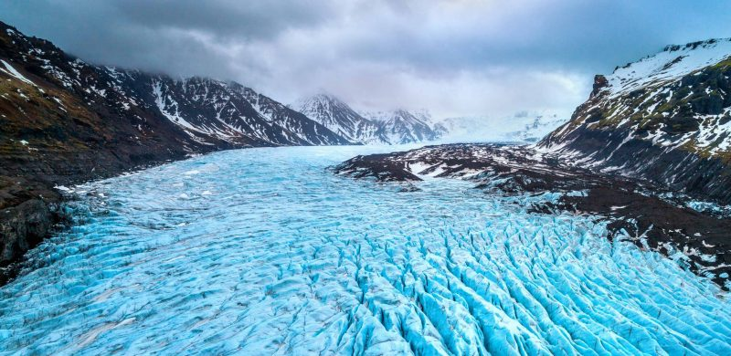 Vatnajokull National Park - Svínafellsjokull glacier in Skaftafell Nature Reserve