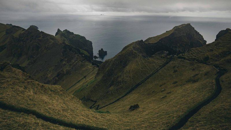 Vestmannaeyjar island in south Iceland, Westman Islands
