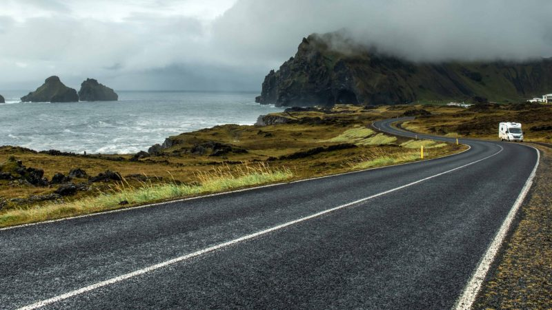 road trip in Vestmannaeyjar island in south Iceland, Westman Islands