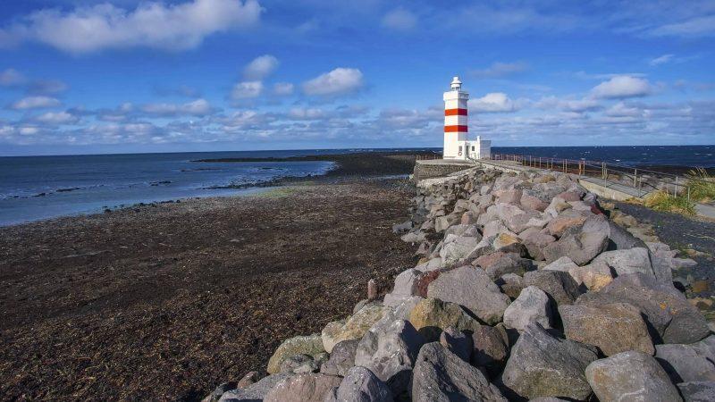 Garðskagaviti lighthouse in Reykjanes Peninsula