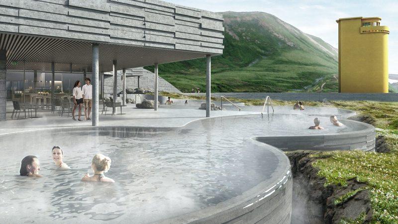 geo sea geothermal nature baths in Husavik north Iceland