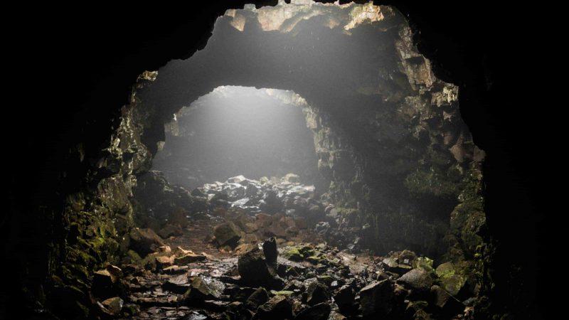 Iceland lava cave