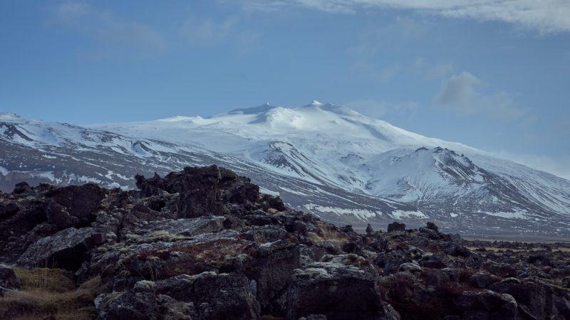 Snæfellsjökull glacier in Snæfellsnes Peninsula