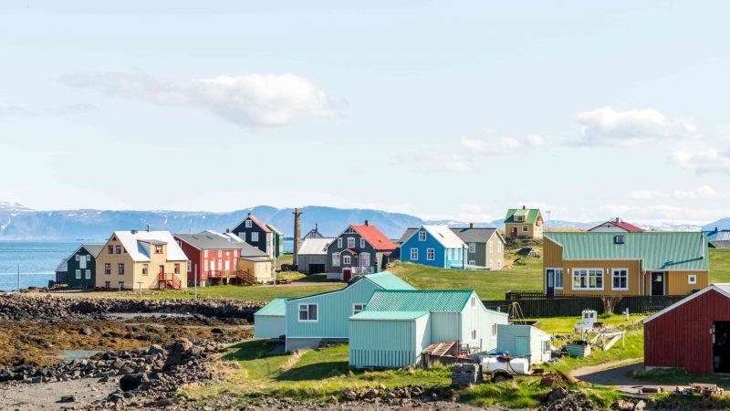Stykkisholmur village in Snæfellsnes Peninsula, the village of color